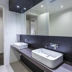 Modern twin bathroom in designer Australian home