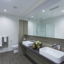 Modern twin bathroom in stylish Australian home